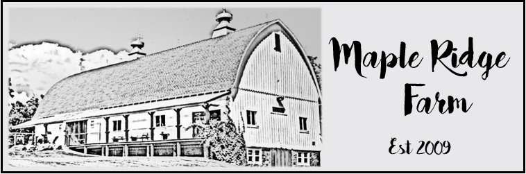 Maple Ridge Farm - Just another WordPress site